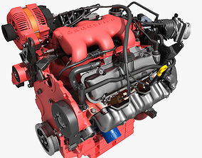 3D model Car V6 Engine