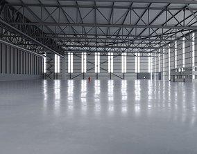 3D model Airplane Hangar Interior 2
