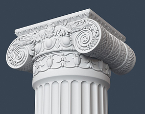 3D model decor Ionic Column 005