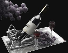 3D model Wine and Grape