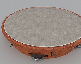 Frame Drum -Timbrel 3D Low Poly model game-ready