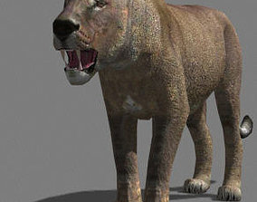 3D model AWESOME Low-poly lioness