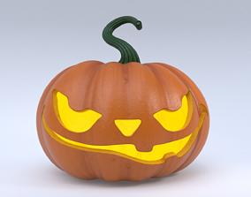 3D asset game-ready Halloween Pumpkin jack-o-lantern