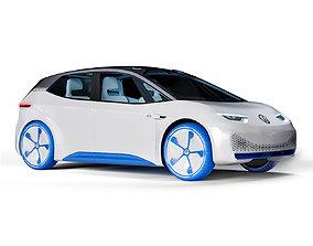 3D Volkswagen ID car engine
