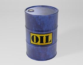 3D model Industrial Oil Drum