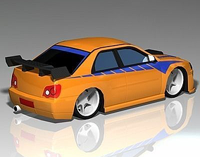 Import Street Racer 3D model realtime
