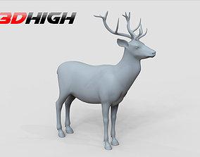 3D deer basemesh