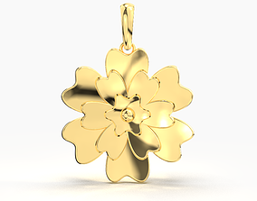 FLOWER GOLD PENDANT 3D print model