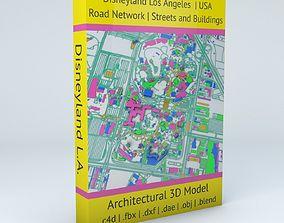 3D model Disneyland Los Angeles Road Network Buildings and