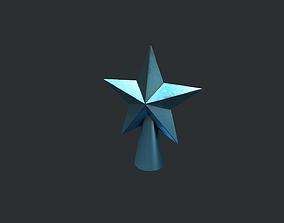 3D model Blue Star Christmas Tree Topper