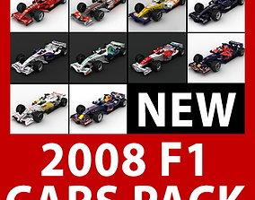 3D model toro F1 2008 Cars and Helmets
