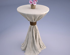 3D wedding Wedding Table with Flowers