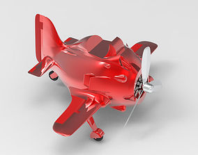 3D printable model Cute assembled airplane toy