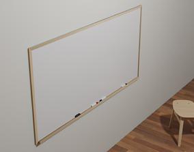Wood Framed Whiteboard 3D asset