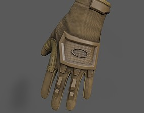 Scifi glove military low poly 3D asset