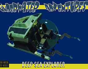 3D model Deep SEa Explorer minisub