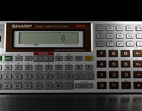 Pocket computer Sharp PC-1403H 3D model