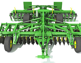 soil 3D model Disc Harrow