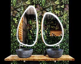 Bathroom Decor 3D model mirror