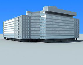 building 3D model Detailed Glass Building 91