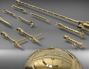 Libra Gold Saint weapons from Saint Seiya 3D print model 2