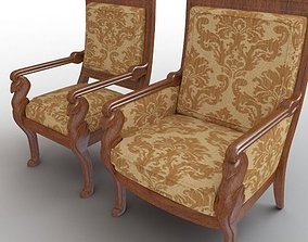 Side Chair and Armchair 3D