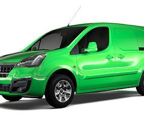 Peugeot Partner Van L2 2slidedoors 2017 3D