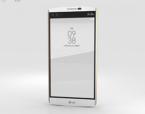 android LG V10 Luxe White 3D model