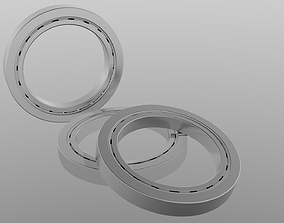 3D model radial Ball bearing