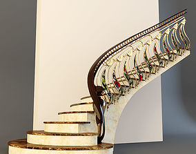 Stairs 3d golden