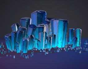 3D model Realtime Crystal environment prop pack