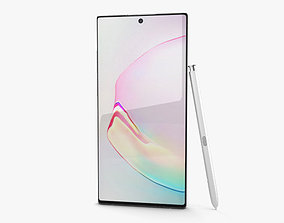 3D Samsung Galaxy Note 10 Plus Aura White