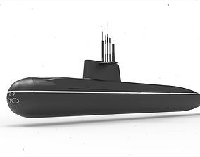 3D model Amur Submarine 1650