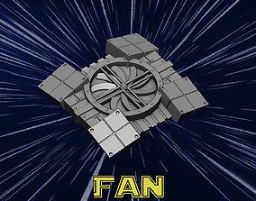spaceship 3D printable model ventilation fan