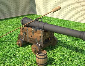 3D 24 ft cannon