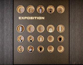 Decorative wall PN60 exposition 3D model