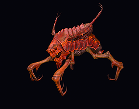 3D asset Baby Insect Low