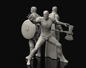sculptures Avengers Statues Bundle 3D printable model