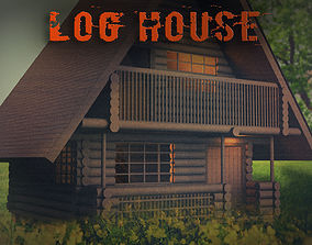 3D model realtime Log House