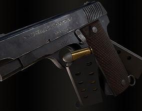 French Ruby Pistol 3D asset