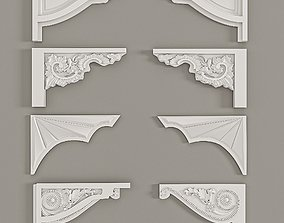 Bezel Stages Decorative Gaudi Elements 3D
