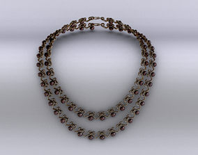 necklace 3D asset game-ready Necklace