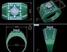 Ring man modern diamond RM-DRO-001 3D printable model