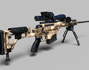 338 Lapua Magnum sniper rifle 3D