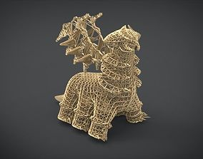 Altered Forme Giratina Wireframe 3D printable model