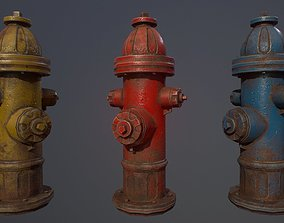 3D asset game-ready PBR Fire Hydrant