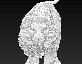 3D print model Angry lion pendant