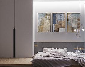 Minimalistic bedroom design 3D
