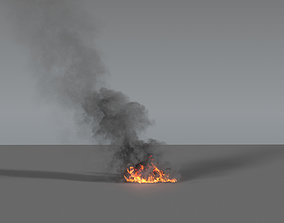 Fire Smoke Column 02 - VDB 3D model