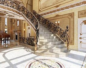 Interior classical mansion 3D